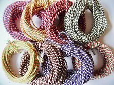 10mts Tri-Colour Thick Cotton Bakers Twine. Choice of Colour. Vintage gift wrap