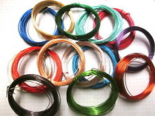 Metallic Coloured Copper Wire  1, 2, or 3 Rolls  Choice of Colour 32' x 22gauge
