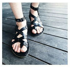 New Fashion Men's  Roman Style Leather Buckle Strap Sandals
