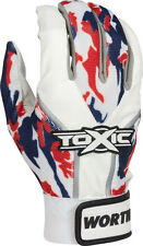 Worth Toxic Adult Baseball/Softball Batting Gloves TOXBG