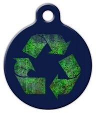 RECYCLE SYMBOL - Custom Personalized Pet ID Tag for Dog and Cat Collars
