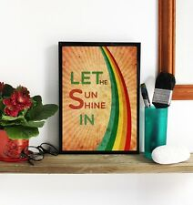 RETRO POSTER Print, Designer Wall Fine Art Deco Reproduction Typographic Rainbow