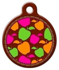 CANDY APPLE LUPINE PATTERN - Custom Personalized Pet ID Tag for Dog Cat Collars