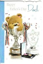 cute DAD father's day card cute bear - 12 x fathers day cards to choose from!