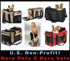 UP TO 22LB Casual Canine Pet Duffle Bag Carrier Dog Cat Airline Red Tan Leopard