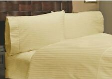Sale 1000TC 100%Cotton Complete UK Bedding Collection Ivory Stripe Choose Items