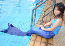 Girls Size Mermaid Tail Swimmable Swim Monofin Fin Costume Cosplay Fancy Dress