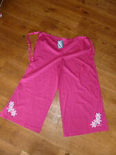 TRESPASS BEACH PINK  OR TURQUOISE WRAP AROUND SARONG TROUSERS ONE SIZE COTTON
