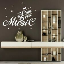 MUSIC NOTES Wall Art Sticker musical swirl decals vinyl transfers stickers songs