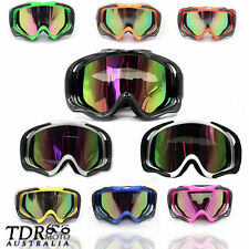 tinted motocross motorbike goggles anti-fog UV protection MX dirt  trail bike
