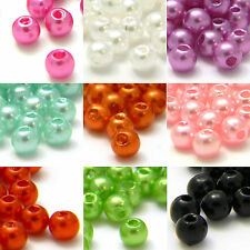 Lot of 700 Little 4mm Round Plastic Acrylic Faux Pearl Beads With Luster Finish