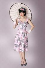 NWT! VERONICA DRESS BY BETTIE PAGE CLOTHING, PIN UP, RETRO, FLORAL