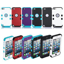 Shockproof Hybrid Impact Hard & Soft Case Cover For iPod Touch 5 itouch 5th Gen