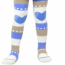 Naartjie Girls Stripes with Heart Tight, Ivory NWT