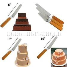 """New 6""""8""""10""""Cake Decorating Stainless Spatula Straight Smooth Spread Filling Tool"""