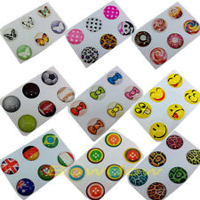 6 pcs/set fashion Home button sticker for iphone 5 5C 4S 4 3GS ipod touch 4 5th