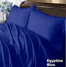 1000TC Egyptian Blue Stripe 100% Egyptian Cotton All Size,Fitted Sheet,Duvet Set