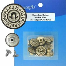 6/pkg 15mm KIDS-SIZE NO-SEW JEAN TACK BUTTONS