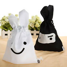 1/2 PCS Lovely Cute Rabbit Cosmetic Case Travel Storage Bag Pouch Black White