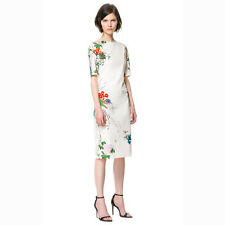 Women'S Elegant New Fashion Oriental Flower Print Cheongsam mandarin Gown Dress