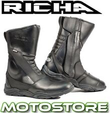 RICHA ZENITH WATERPROOF BOOTS MOTORCYCLE MOTORBIKE TOURING ALL SIZES NEW BLACK