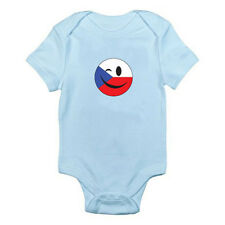 CZECH REPUBLICAN FLAG WINKING SMILEY FACE - Europe Themed Baby Grow / Romper