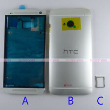 New OEM Housing Front Bezel Battery Back Cover Case for HTC ONE M7 Silver