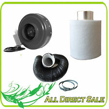 "4"" 6"" 8"" Inline Fan Exhaust Blower Carbon Filter Ducting Combo Speed Controller"