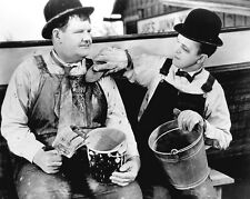 LAUREL AND HARDY 25 (TOWED IN A HOLE) PHOTO PRINT