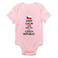 KEEP CALM AND GO TO THE CZECH REPUBLIC - Europe / Fun Themed Baby Grow / Suit