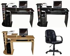NEW COMPUTER DESK w/Keyboard Shelf+OFFICE CHAIR,SEAT Home/Business Furniture #13