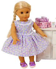 FRILLY LILY LILAC FLOWER DRESS FOR DOLLS AND BEARS, LOTS OF SIZES !