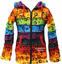Bubble Print Kids Cotton Hooded Jacket With Pixie Hood,Hippy Trend Clothing,Boho