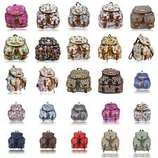 Anna Smith LYDC Owl Tree Colour Print Retro Rucksack / Backpack / Shoulder bag