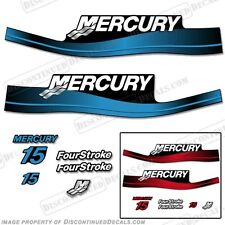 Mercury 15hp FourStroke Outboard Decal Kit 4-Stroke Blue or Red 1999-2006