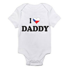 I LOVE CZECH DADDY - Dad / Father / Czech Republic Themed Baby Grow / Romper