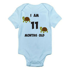 I AM 11 MONTHS OLD - Age / Eleven / Birth / Tortoise Themed Baby Grow / Suit