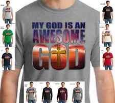 Religious My God is an Awesome God Christian T-SHIRT W/free shipping