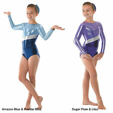 Stunning Gymnastics Leotard Metallic Gym Leotards Girls Womens 4yrs-UK Size 12