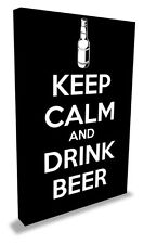 'Keep Calm and Drink Beer' LARGE Canvas Art
