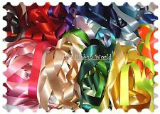 *BERISFORDS DOUBLE SATIN RIBBON 5mm 7mm 10mm 15mm 25mm 35mm 50mm 70mm 30 COLOURS