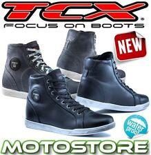 TCX X-STREET WP WATERPROOF TOURING BOOTS MOTORCYCLE BIKE SHORT ANKLE URBAN STUNT
