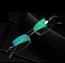 1X Fashion Semi Rimless Silver Reading Glasses & Carrying Case +1.0 1.5 2.0 2.5