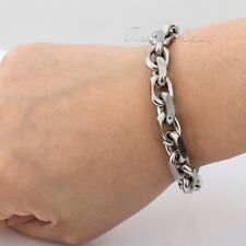 Mens Chain X'MAS Gift Cable Link Stainless Steel T/O Toggle Link Clasp Bracelet
