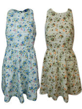 New WOMENS LADIES FLORAL PRINT TUNIC DRESS SLEEVELESS LOOSE CASUAL TOP SKATER