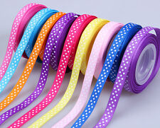 """5/50/100yards 3/8"""" swiss dotty sewing décor grosgrain ribbon 10 color available"""