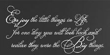 Enjoy The Little Things In Life Vinyl Wall Decal