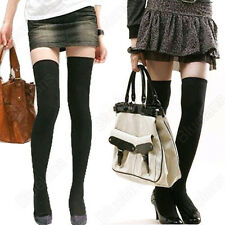 Womens Girls Soft Cotton Hosiery High Socks Over-knee Stockings Thigh High B52U