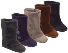 Womens Rib Knit Sweater Crochet Boots 5 Colors Available Sz. 6-11