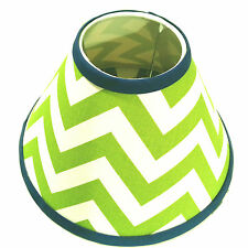 Chevron Lamp Shade - 4 x 11 x 7 - Your choice of fabric and trim colors